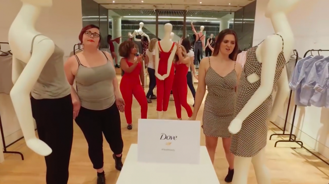 Ad of the Day: Dove Does the Mannequin Challenge, but Turns It Upside Down